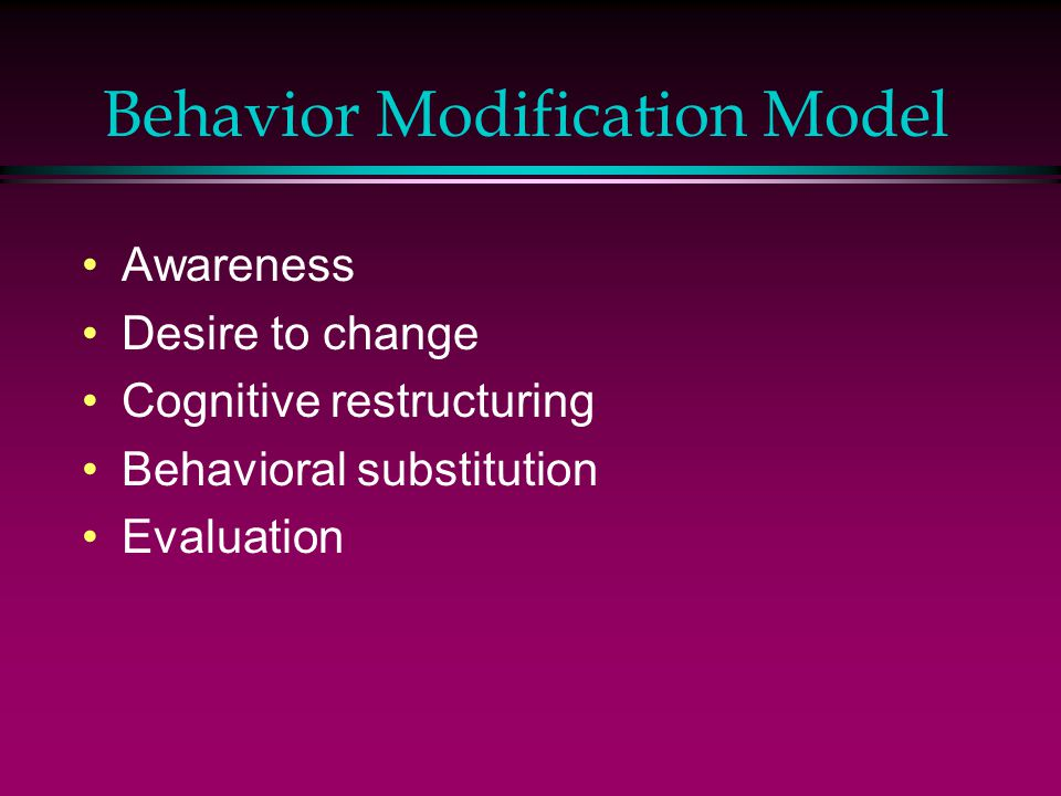 Behavior Modification Model