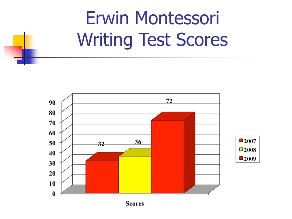 Erwin Montessori Writing Test Scores