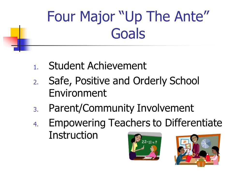 Four Major Up The Ante Goals