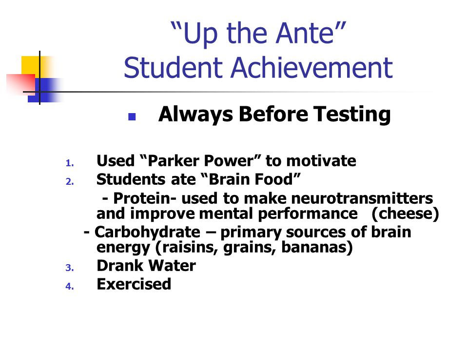 Up the Ante Student Achievement