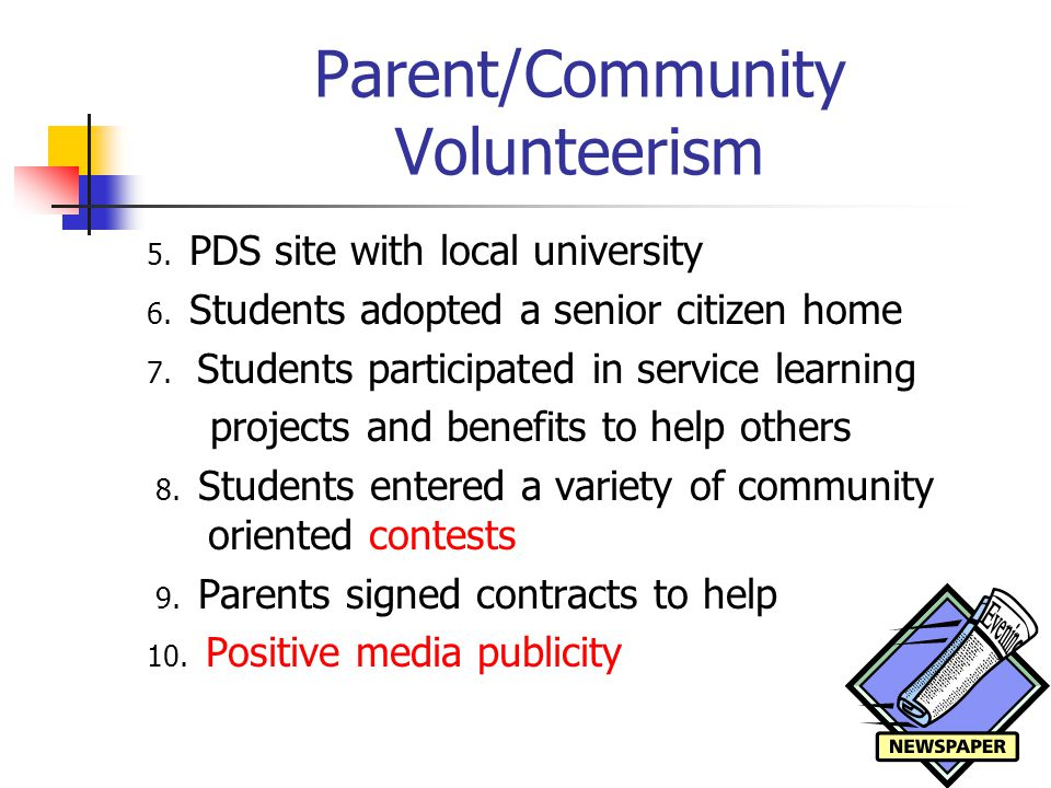 Parent/Community Volunteerism