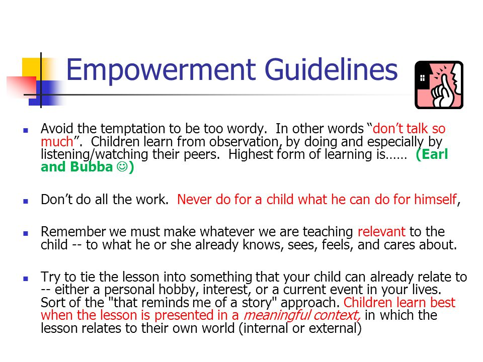 Empowerment Guidelines