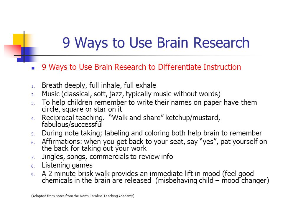 9 Ways to Use Brain Research