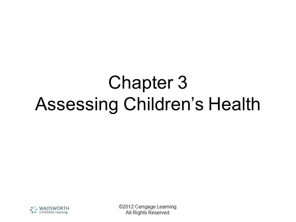 Chapter 3 Assessing Children's Health