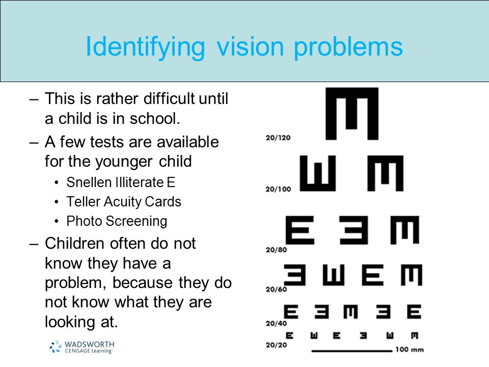 Identifying vision problems