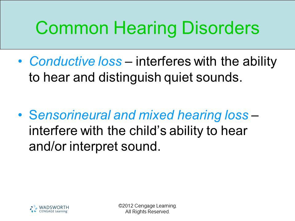 Common Hearing Disorders