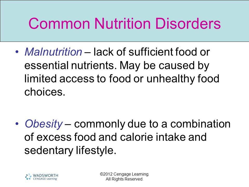 Common Nutrition Disorders