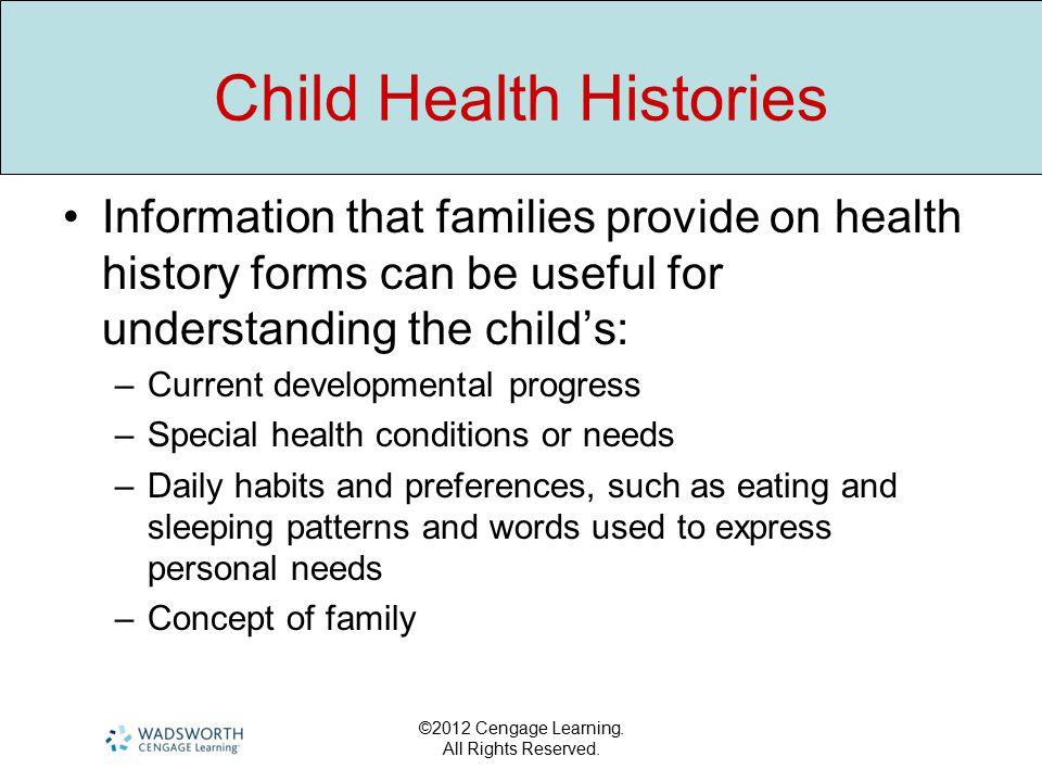 Child Health Histories
