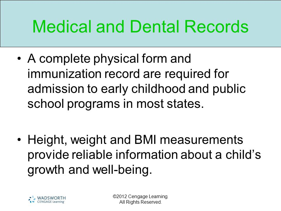 Medical and Dental Records