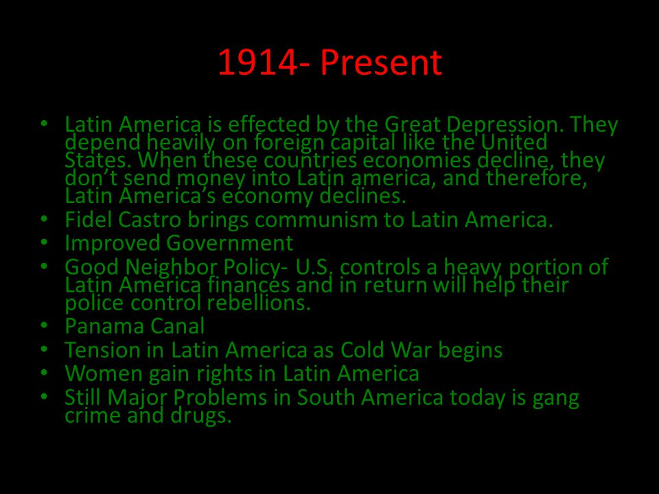1914- Present