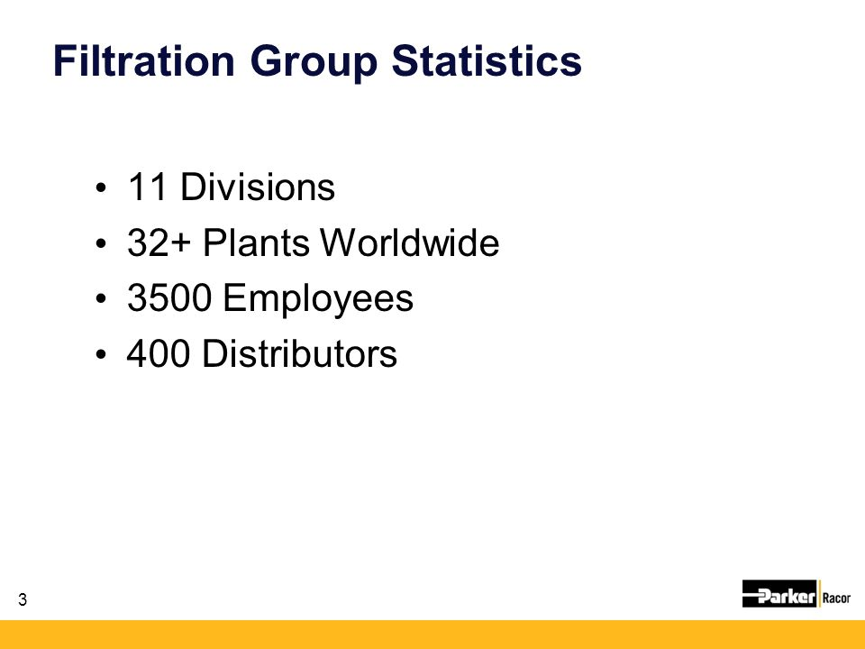 Filtration Group Statistics