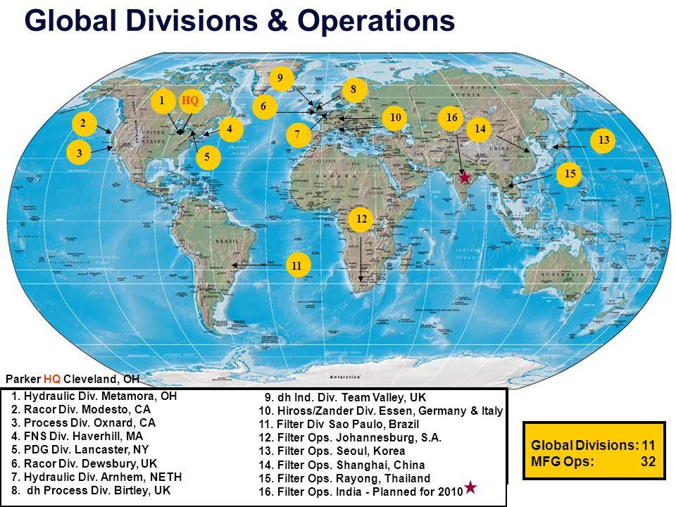 Global Divisions & Operations