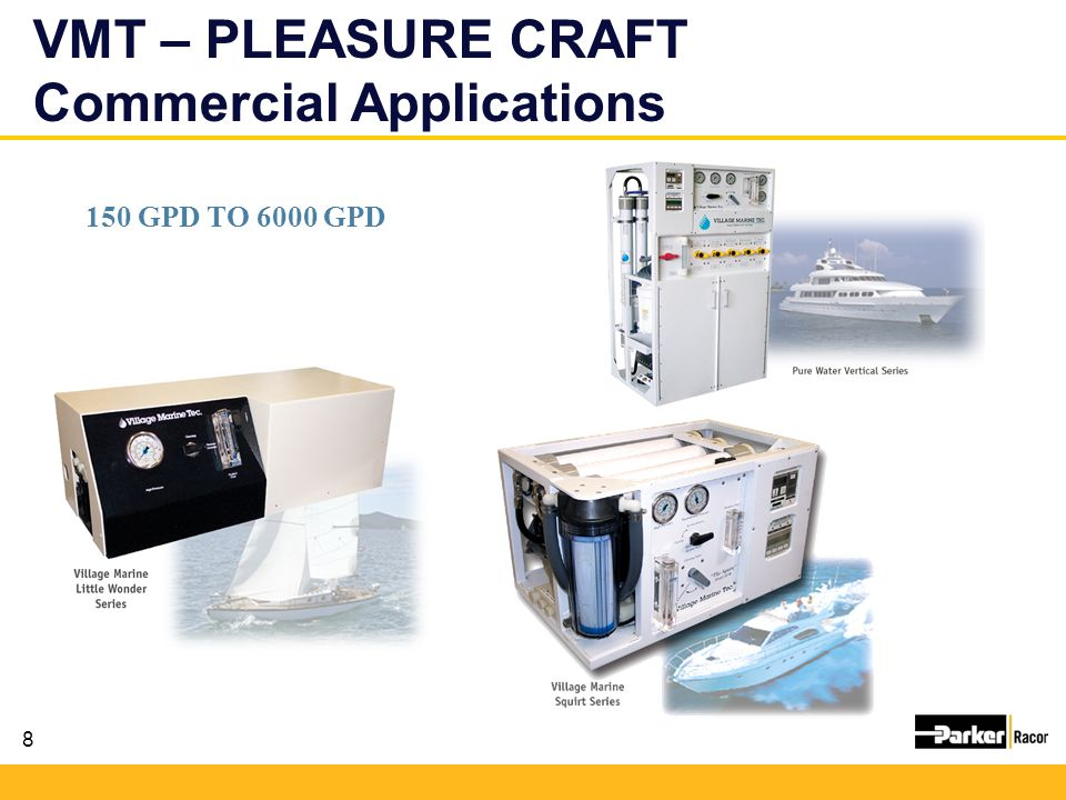 VMT – PLEASURE CRAFT Commercial Applications