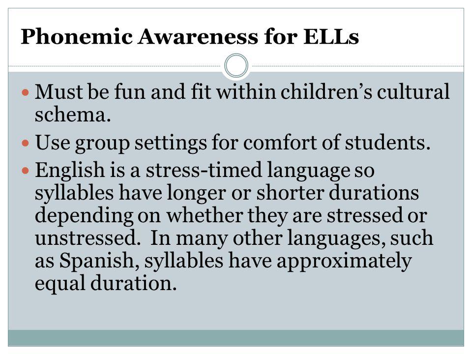 Phonemic Awareness for ELLs