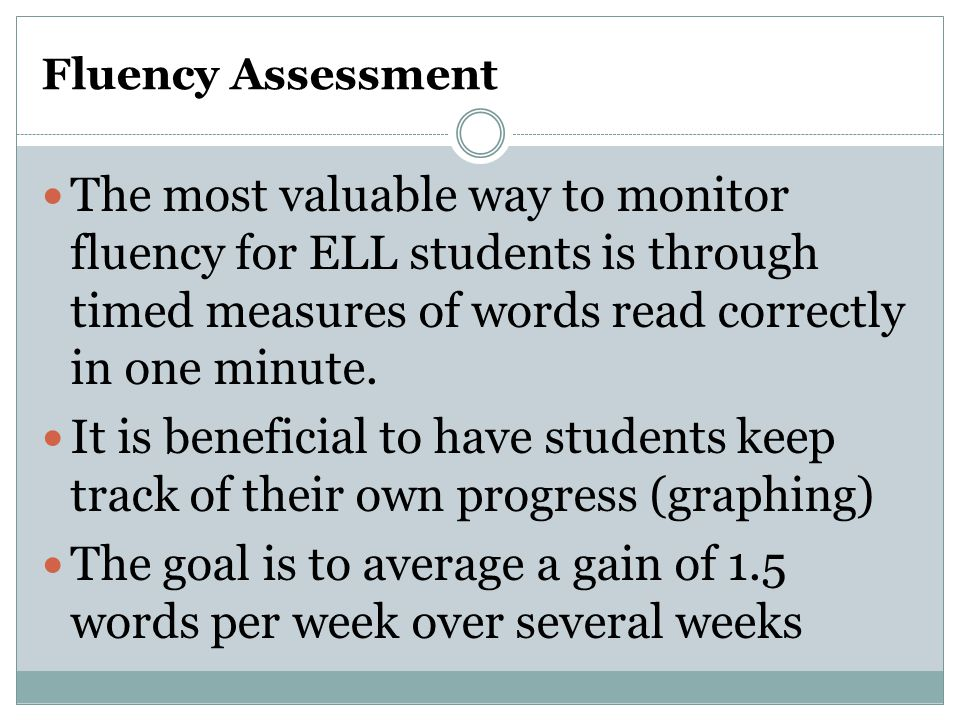 The goal is to average a gain of 1.5 words per week over several weeks