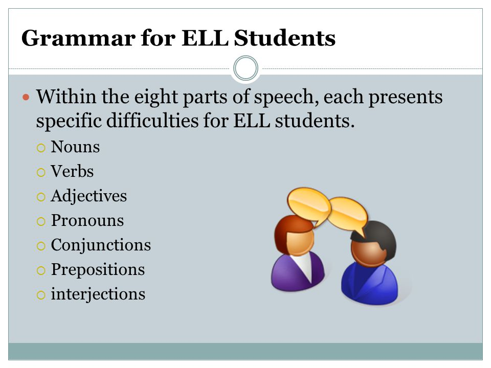 Grammar for ELL Students
