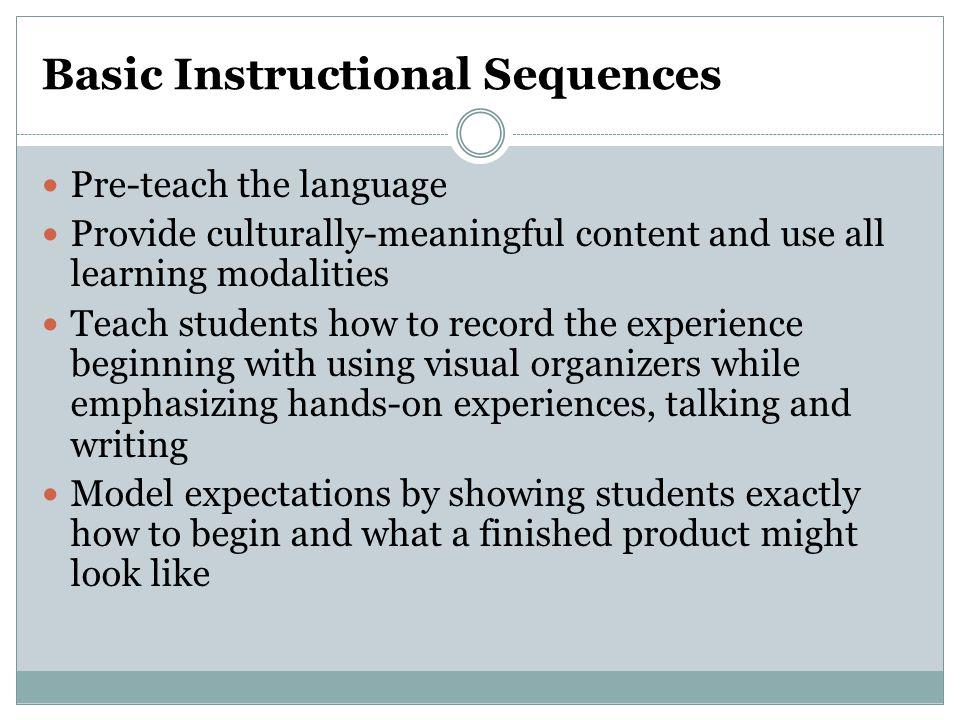 Basic Instructional Sequences