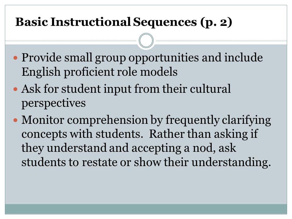 Basic Instructional Sequences (p. 2)