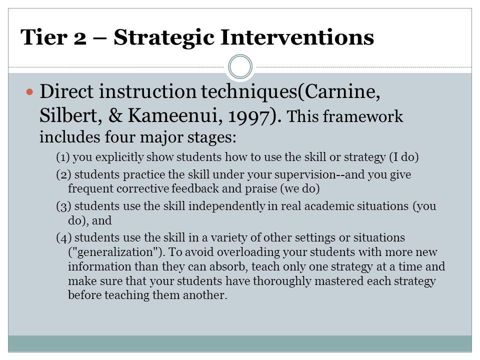 Tier 2 – Strategic Interventions