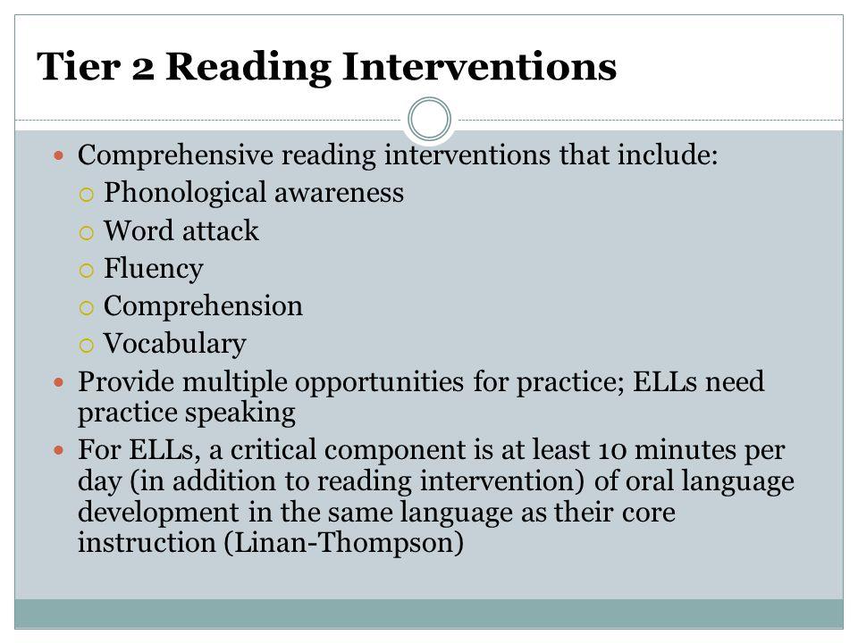 Tier 2 Reading Interventions