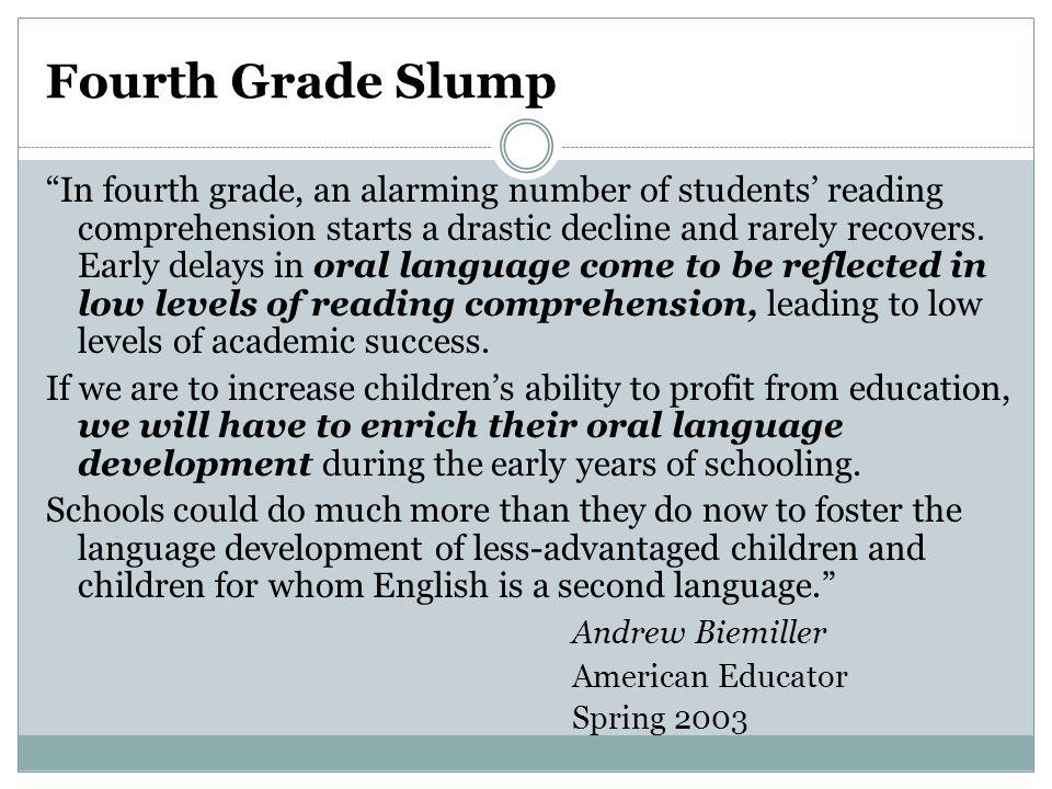 Fourth Grade Slump
