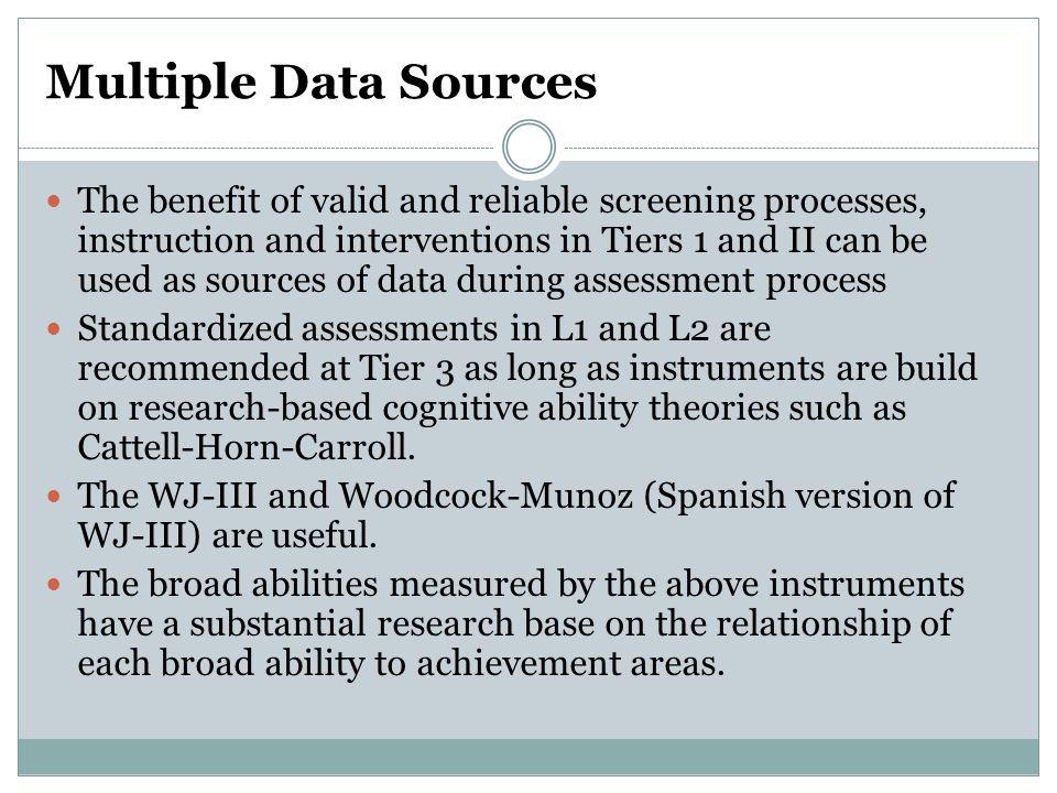 Multiple Data Sources