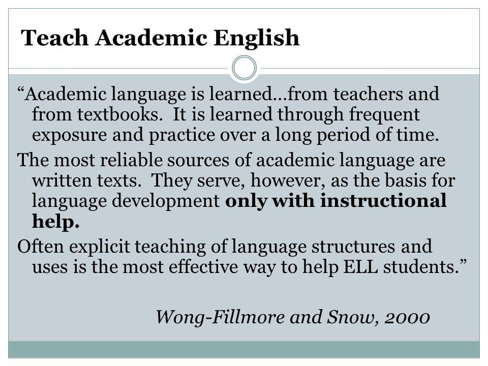 Teach Academic English