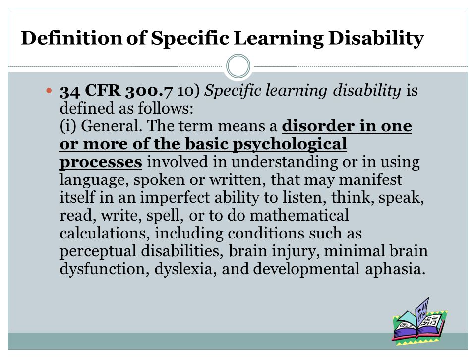 Definition of Specific Learning Disability