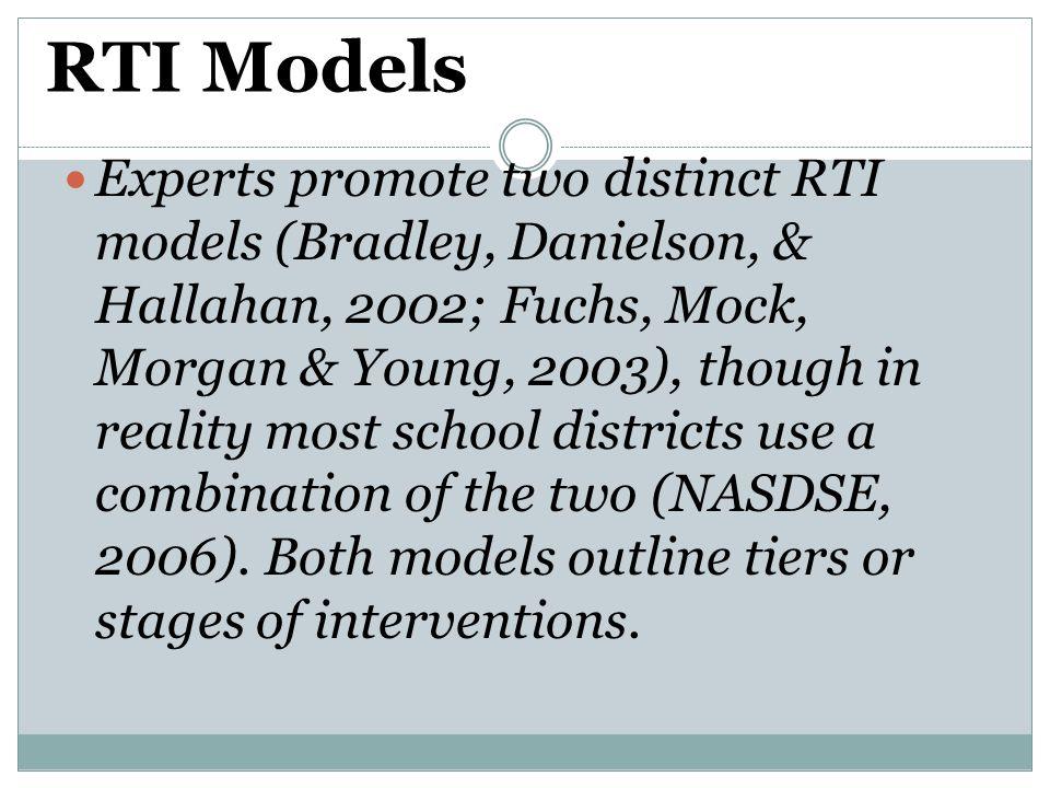 RTI Models