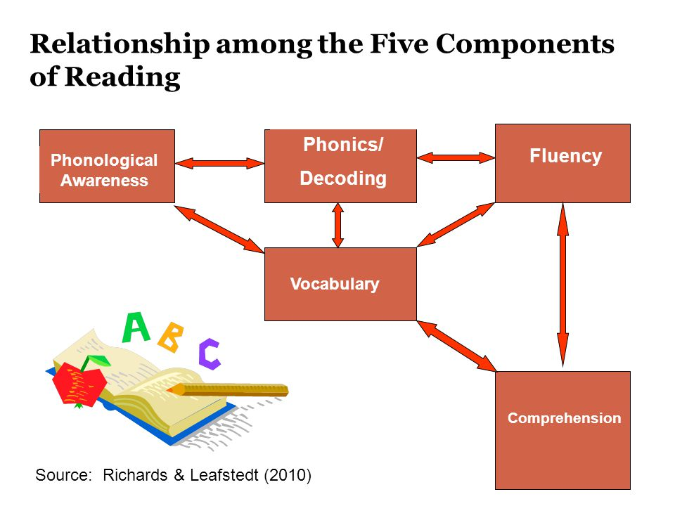 Relationship among the Five Components of Reading