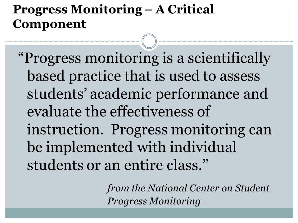 Progress Monitoring – A Critical Component