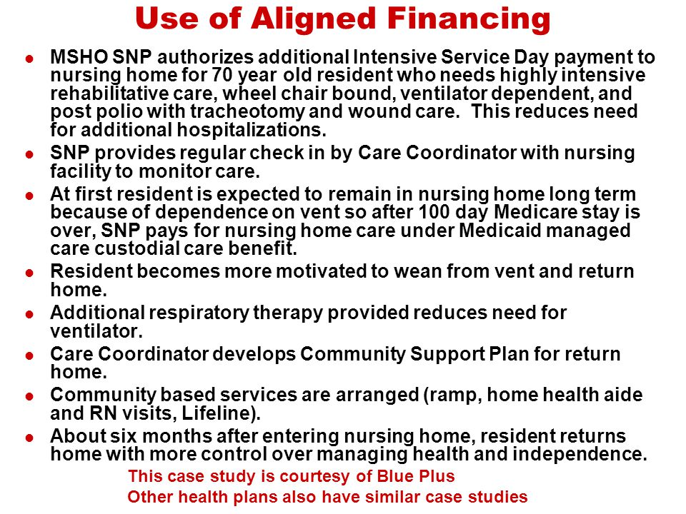 Use of Aligned Financing