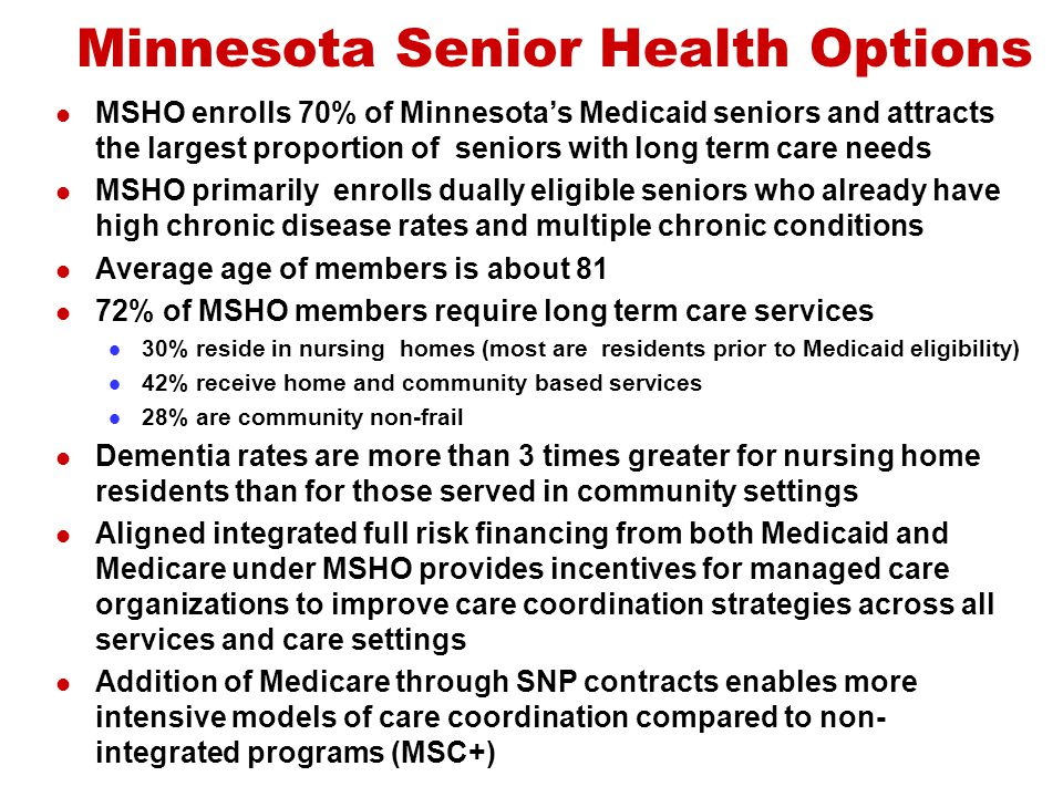 Minnesota Senior Health Options