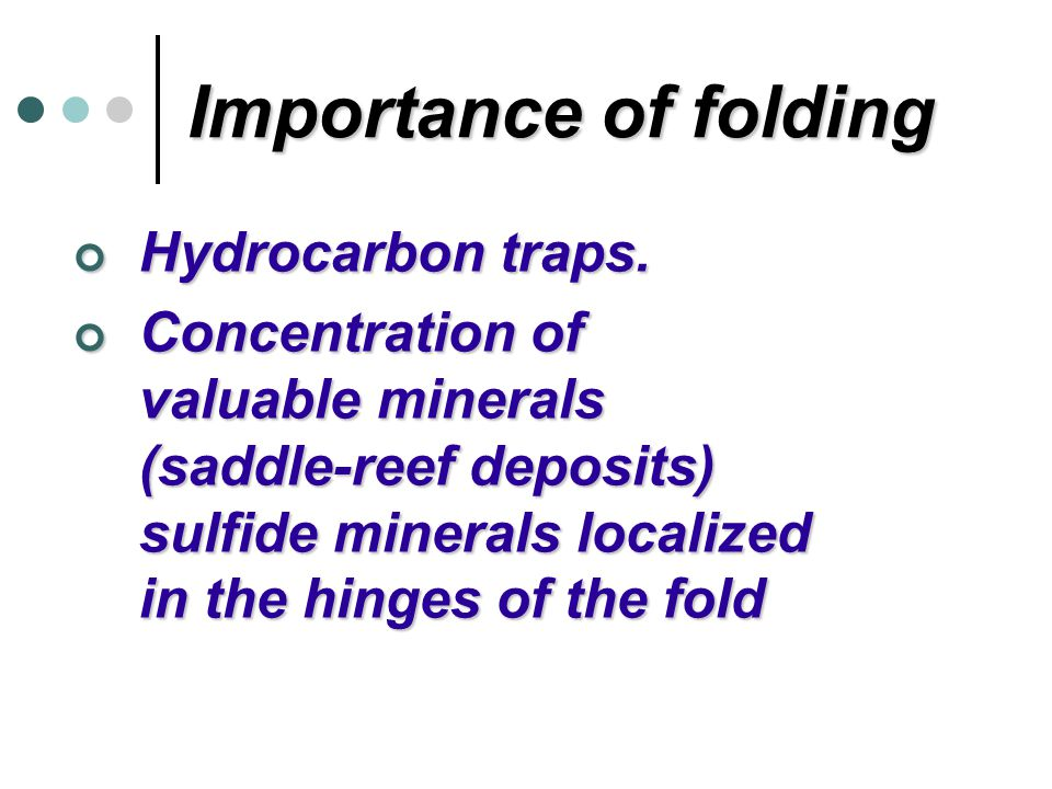 Importance of folding Hydrocarbon traps.