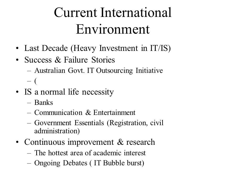 Current International Environment