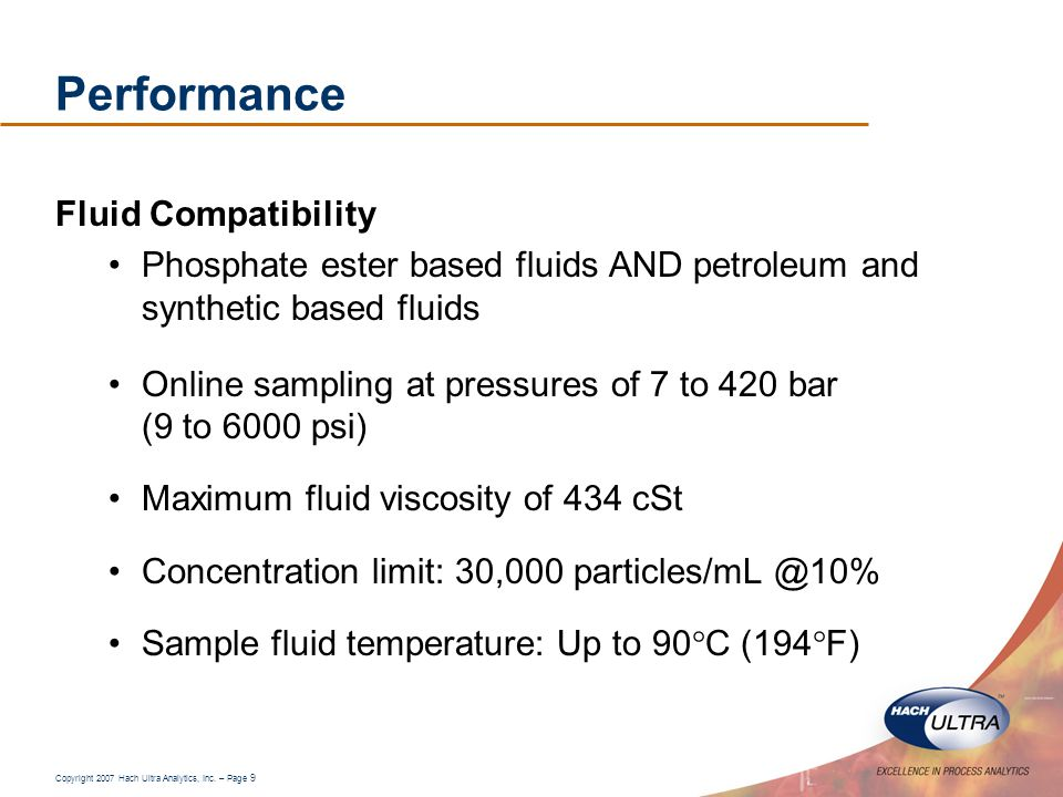 Performance Fluid Compatibility