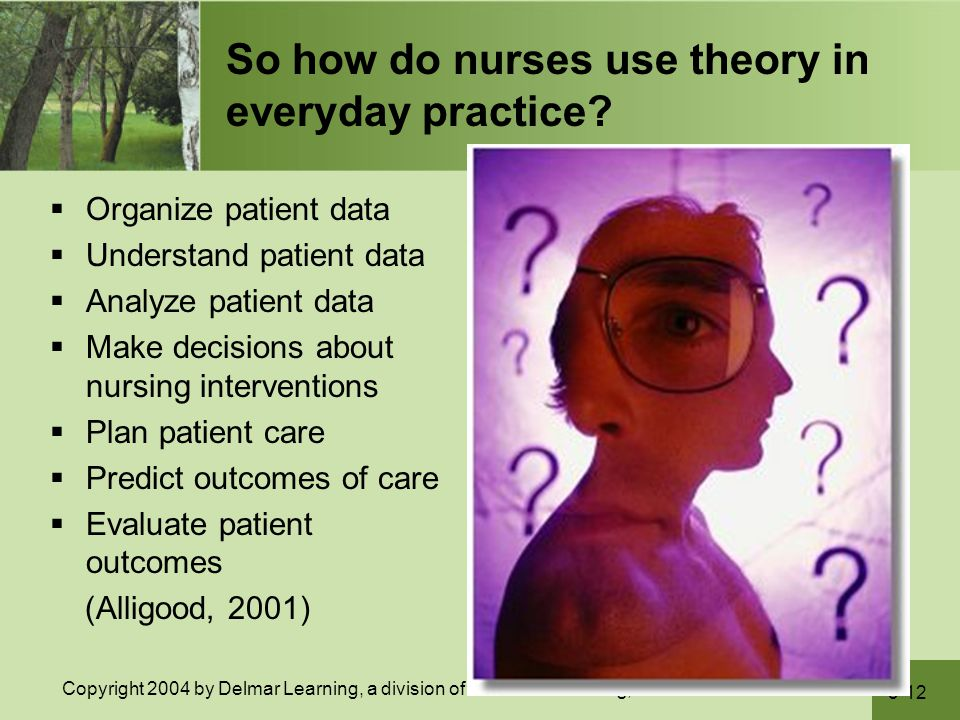 So how do nurses use theory in everyday practice