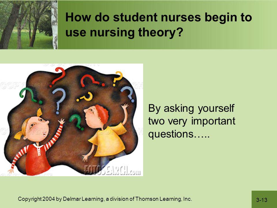How do student nurses begin to use nursing theory