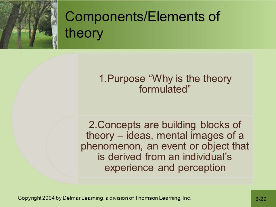 Components/Elements of theory