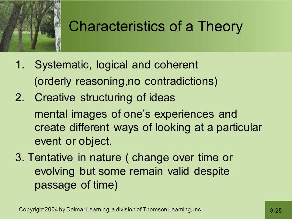 Characteristics of a Theory