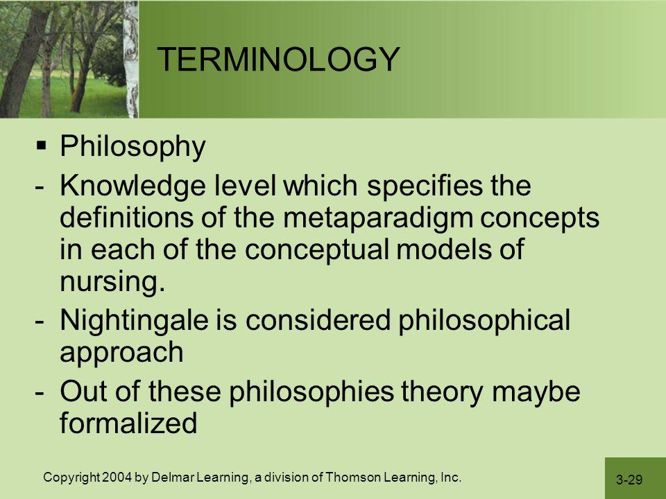 TERMINOLOGY Philosophy
