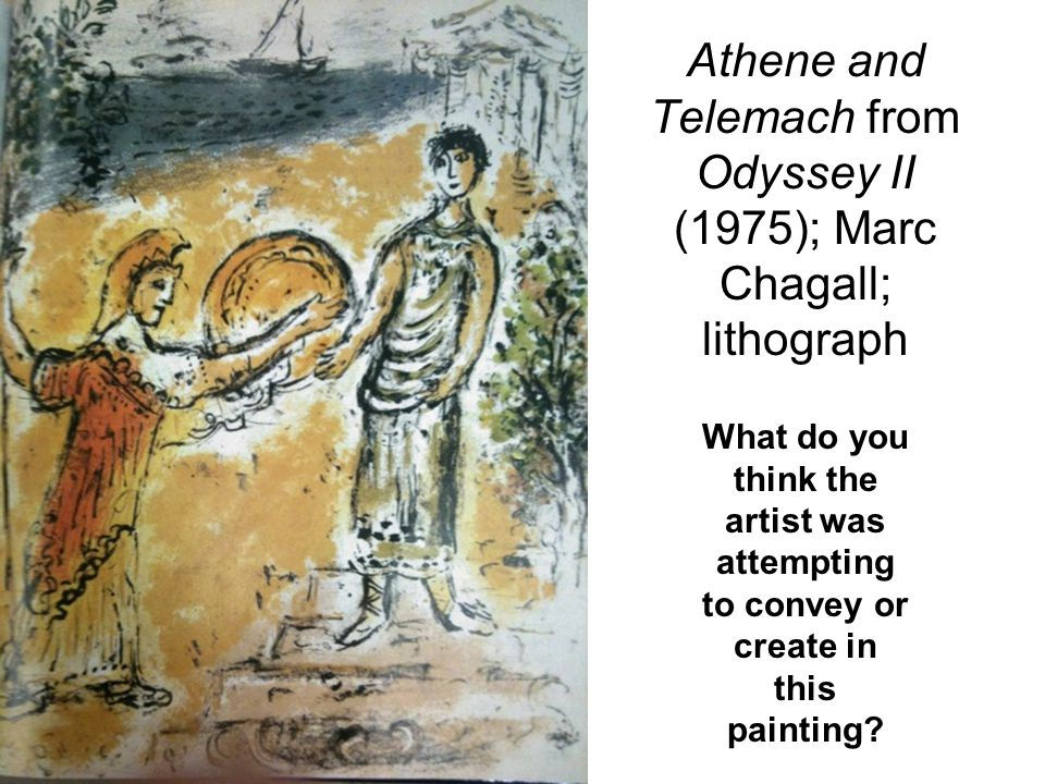 Athene and Telemach from Odyssey II (1975); Marc Chagall; lithograph