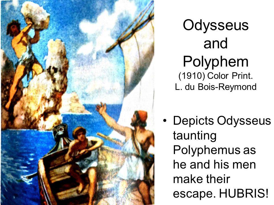 Odysseus and Polyphem (1910) Color Print. L. du Bois-Reymond