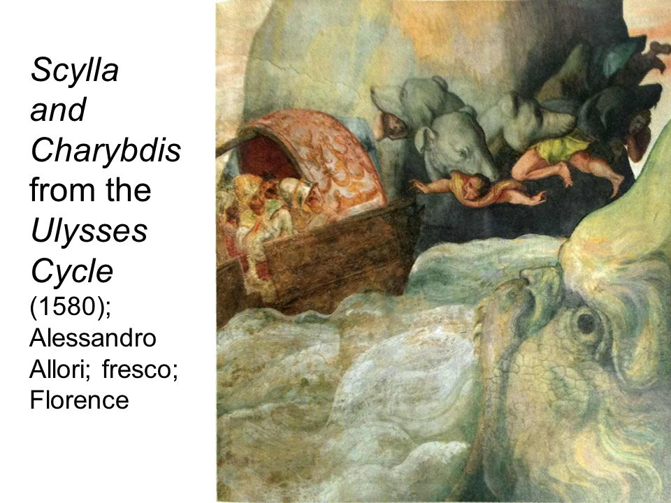 Scylla and Charybdis from the Ulysses Cycle (1580); Alessandro Allori; fresco; Florence