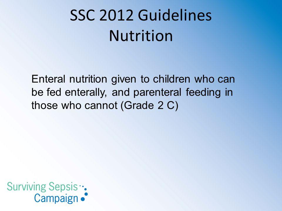 SSC 2012 Guidelines Nutrition
