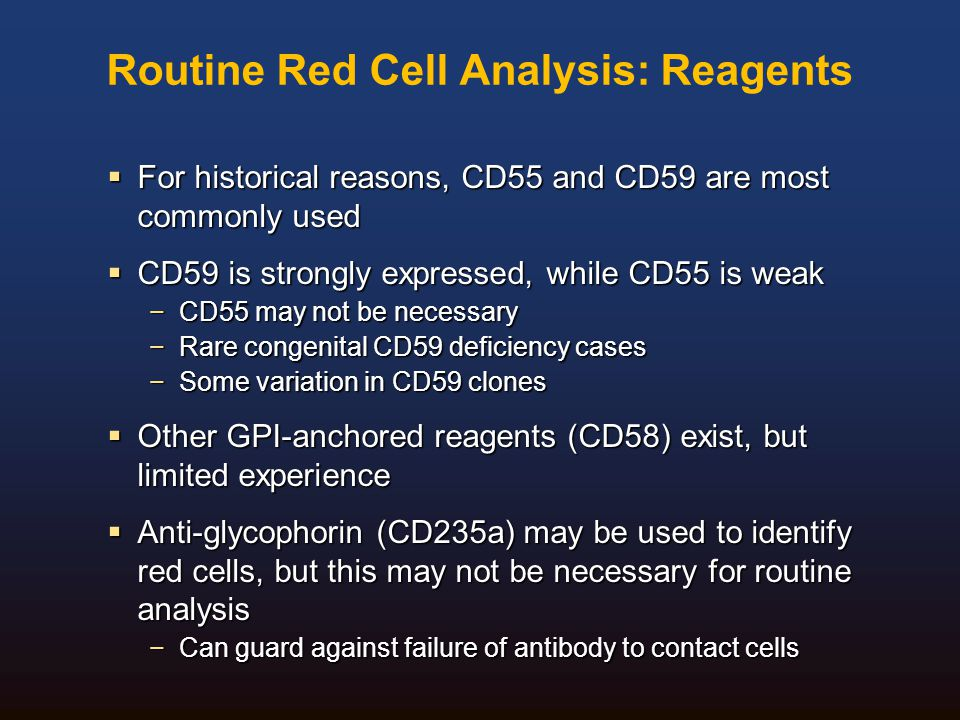 Routine Red Cell Analysis: Reagents