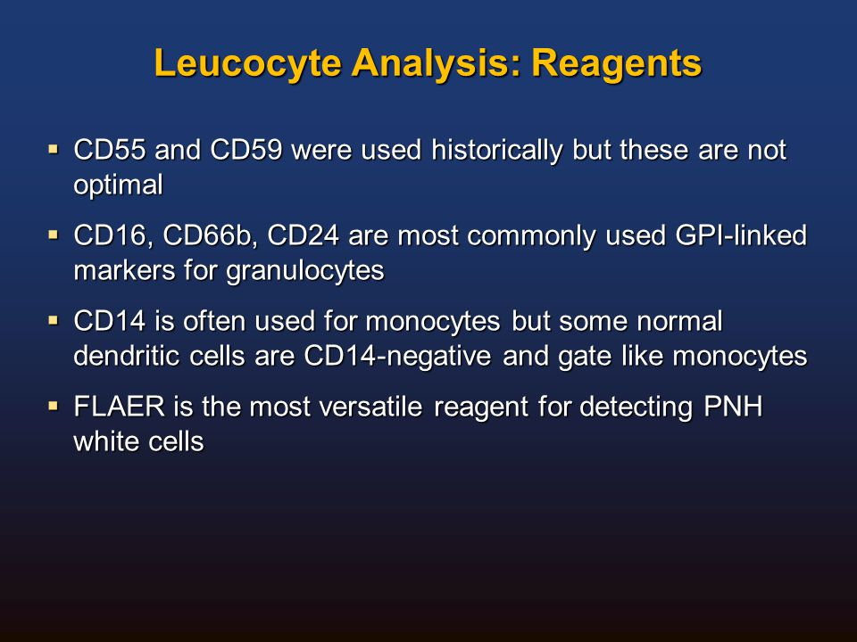 Leucocyte Analysis: Reagents