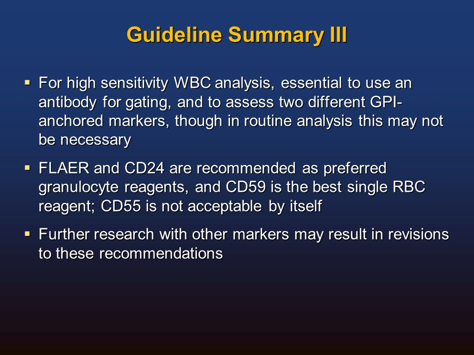 Guideline Summary III
