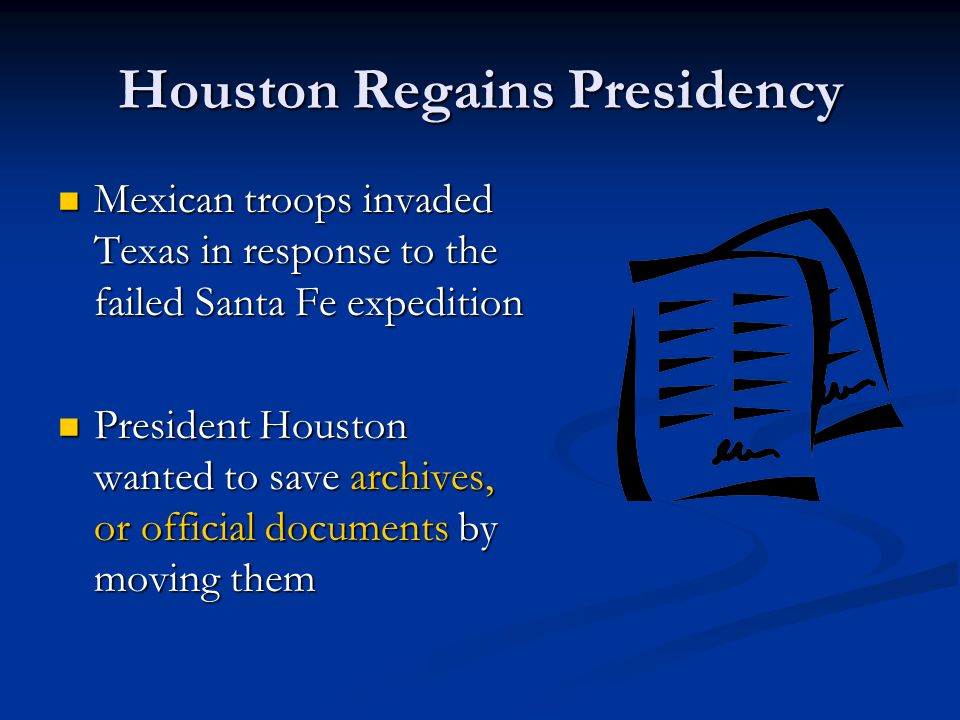 Houston Regains Presidency