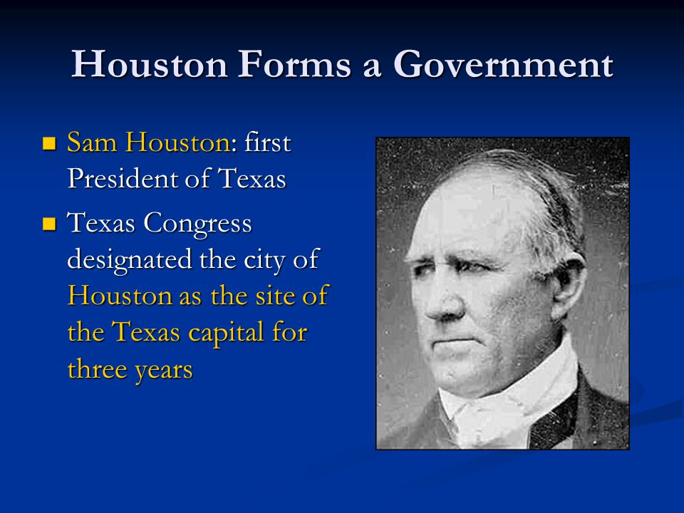 Houston Forms a Government